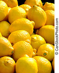 Lemon as selling on a market