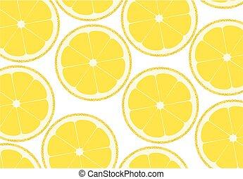Lemon background - Background from the cut lemons