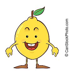 Lemon Cartoon Character