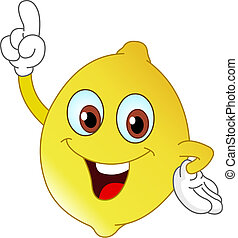 Lemon - Cartoon lemon pointing with his finger