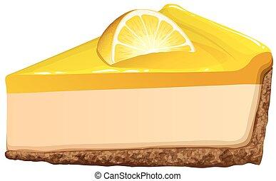 Lemon cheesecake on white illustration