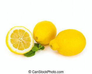 Lemon citrus fruits