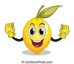 Lemon - Illustration of a lemon with face