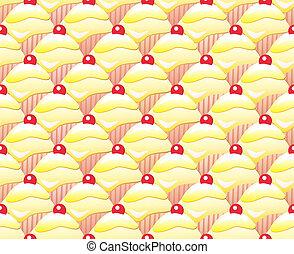 Lemon cupcake seamless - Repeating rows of lemon cupcakes....