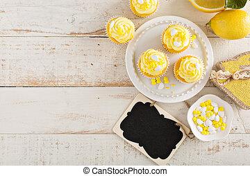 Lemon cupcakes for Easter