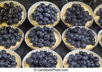 Lemon Custard Fruit Tarts with Blueberries - Lemon Curd...