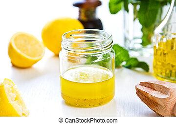 Lemon dressing - Homemade Lemon vinaigrette dressing by...