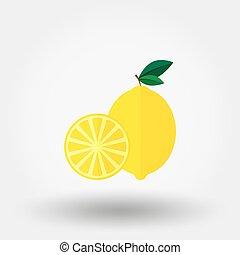 Lemon. Flat icon.