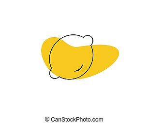 lemon flat icon on white background in vector illustration