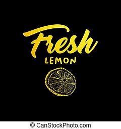 Lemon fruit vector color illustration