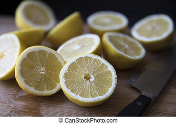 Lemon Halves Just Sliced