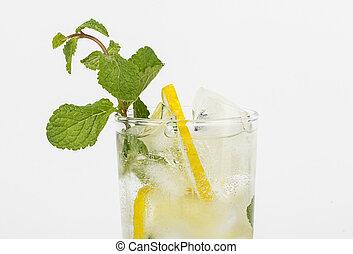Lemon healthy soda drink