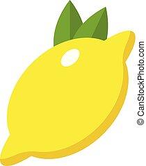 Lemon icon, flat style