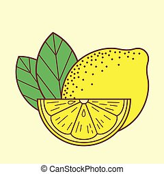 Lemon icon isolated on white background. Vector illustration.