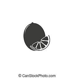 lemon icon Vector Illustration on the white background.