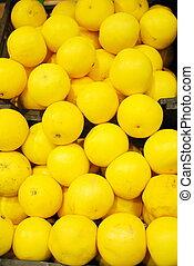 lemon in supermarket
