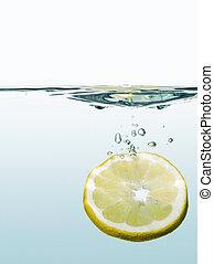 lemon in the water
