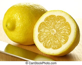 Lemon, isolated, close up