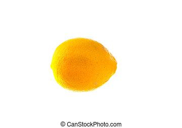 lemon isolated in white background
