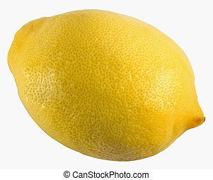 Lemon isolated on the white background