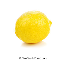 lemon isolated on white background.
