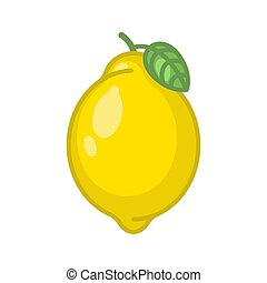 Lemon isolated on white background. vector illustration