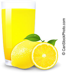 Lemon Juice And Slices Of Orange