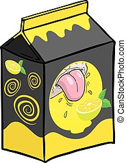 lemon juice box illustration