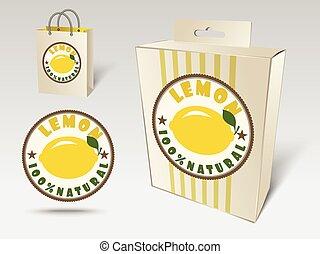 Lemon label concept