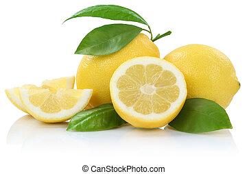 Lemon lemons fruits isolated on white
