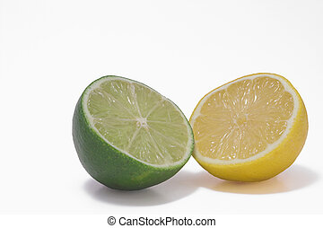 Lemon Lime - A yellow lemon and a gren lime.