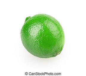 lemon, lime isolated on white background