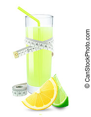 lemon-lime juice and meter