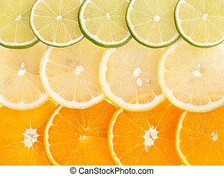 lemon lime orange slices