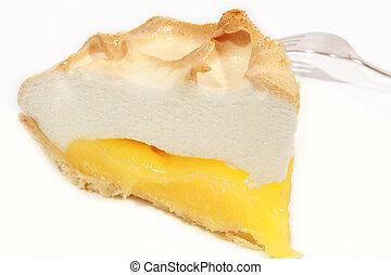 A fresh serving of lemon meringue pie