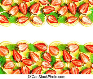 Lemon, mint and strawberry border