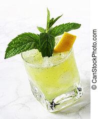 Lemon mint cocktail