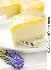 Lemon Mousse topped with a fresh and tangy lemon curd