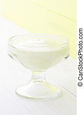 lemon mousse dessert - Delicious and sweet lemon mousse,...