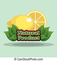 lemon natural product label