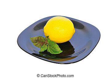 Lemon on a plate