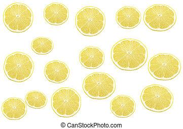 Lemon on the white background