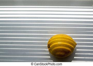 lemon on the windowsill