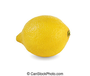 Lemon on white background with clipping path.