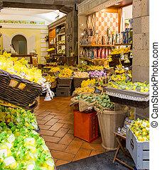Lemon Orange and Olive Soaps in a Sorrento market on the...