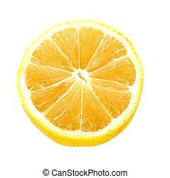 lemon over white
