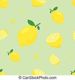 Lemon seamless pattern background.