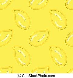 Lemon Seamless Pattern Kid's Style Hand Drawn