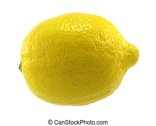 Lemon - Single lemon on white background.