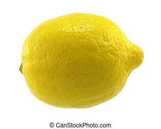 Lemon - Single lemon on white background.